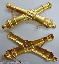 Insigne ARTILLERIE Canons croisés Calot Uniforme Coiffure WWI 1914/18 ORIGINAL