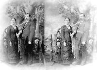 ANTIQUE 7 x 5  GLASS PHOTO NEGATIVE -- 1860-1890 - MIDDLE AGE SPREAD