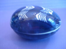 Fitz & Floyd Very Small Pin Dish Egg Shape Blue White Now On Sale