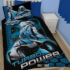 Max Steel Hex Single Panel Duvet Cover Bed Set New Gift Turbo Power