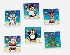 6 Christmas Lights Lenticular stickes *Free S/H when u buy 6 items from my store