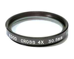 30.5mm High Quality Glass Kood Star 4 Filter Made in Japan Starburst x4 Filter