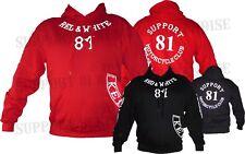SUPPORT 81 KENT HELLS ANGELS ENGLAND Hoody Hoodie Jacket BIG RED MACHINE HAMC 1%