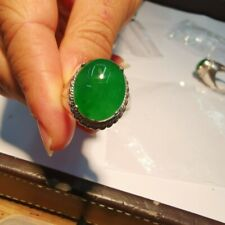 8.25 ct Rarest Natural leaf green jade jadeite loose gemstone from Burma gift#2