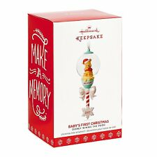 Disney Winnie the Pooh Baby's First Christmas 2017 Hallmark Ornament  In Stock