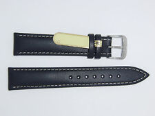 "DI-Modell Genuine Calfskin Leather 18 mm BLACK Watch Band ""HAVANNA"""