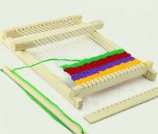 Wooden Traditional Weaving Toy Loom with Accessories Childrens Craft Box Hot