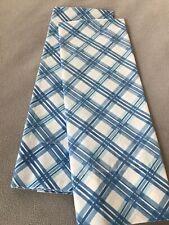 New listing Vintage Pair King Pillowcases ~ Blue Plaid ~ Retro ~ Sears & Roebuck