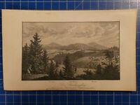 Stahlstich Harz Der Brockengebirge  Unbekannter Künstler  H-7818