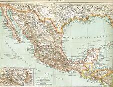 Karte von MEXIKO 1894 Original-Graphik