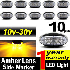 10x 10-30V Amber LED Side Marker Indicator Light Lamp Car Caravan Truck Trailer