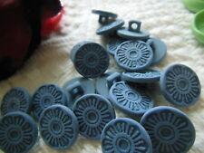 lot 20  boutons fleur bleu à pied  couture mercerie  1,4 cm ideal scrap ref 2438