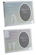 Reflections Mirror Glass Photo Frames Mother Sister Daughter with Sentiment