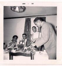 African American Man Carves Holiday Turkey Guests Drink Cocktails Vtg 1961 Photo