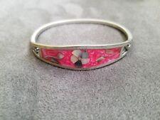 Vintage Silver - Mexico Taxco Abalone Pink Bracelet Hook & Eye Cuff