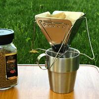 Draussen Camping Kaffeefilter Tragbar Kaffee Rack Kaffeebereiter Edelstahl
