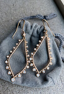 Kendra Scott Sophee Drop Earrings Rose Gold Tone With Stones