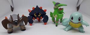 Lot n°1 Figurines Pokémon TOMY Terrakium Carapuce Viridium Geolithe B-12