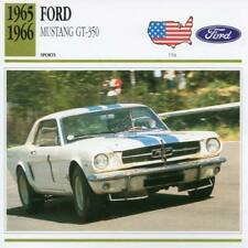 1965-1966 FORD SHELBY MUSTANG GT-350 Sports Classic Car Photo/Info Maxi Card