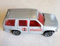 Matchbox 1997 Coca Cola Silver Chevy Tahoe Chevrolet