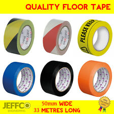 Social Distancing Floor Tape 50mm x 33m Safe Distance Marking Hazard Warning