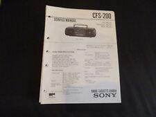 Original Service Manual Sony CFS-200