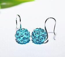 Ohrringe +++ Farben zur Auswahl +++ Ohrhänger Ohrhaken ++ Strass Kugeln silber