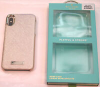 kate spade new york Wrap Case Apple iPhone X & XS Saffiano Rose Gold
