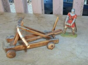 Elastolin Norman Stone Carrying Knight 8836 with catapult