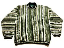 Tundra Canada Mens Green Long Sleeve Coogi Cosby Sweater Size Large