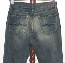 7 For All Mankind 7FAM sz 29 Distressed Flare Denim Jeans 29 x 32 USA