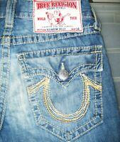 *HOT AUTHENTIC Men's TRUE RELIGION @ BILLY RAINBOW - BOOTCUT Denim Jeans 29 x 32
