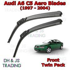 "(97-04) Audi A6 C5 Aero Wiper Blades Windscreen Window 22"" 22"" Flat Front Avant"