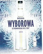 PUBLICITE ADVERTISING 056  2004   Wodka Wyborowa    nouvelle bouteille