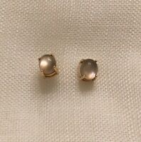 $700 Roberto Coin 18K Gold Gray Oval Doublet Stud Earrings New