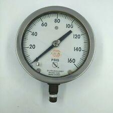 Vintage Ashcroft Duragauge Bronze Tube Pressure Gauge Steampunk Free Shipping