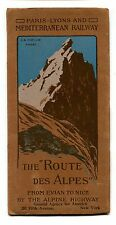 Vintage Travel Brochure PARIS LYON MEDITERRANEAN RAILWAY Route des Alpes 1912
