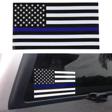 5pcs Police Officer American Flag Thin Blue Line decal sticker Blue Lives Matter