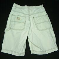 Old Navy Mens 28 Khaki Carpenter Shorts Cotton Summer Contrast Stitching