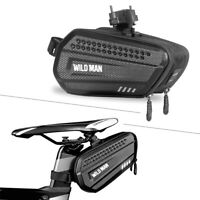 WILDMAN Bicycle Saddle Bag Hard Shell MTB Cycling Waterproof Bike Seart Rear Bag