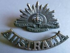 Badge-Australian Commonwealth Military Forces Cap Badge & Shoulder Title (BRONZE