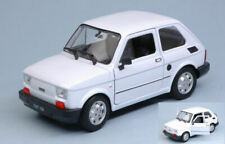 Fiat 126 1973 white 1:24-27 auto stradali scala 1:24 welly