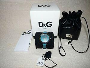 BOXED VGC Teal Dolce & Gabbana Ladies Hoop-La Quartz Analogue Watch DW0665 - D&G