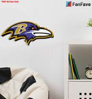 BALTIMORE RAVENS 3D FOAM WALL LOGO SIGN FAN MANCAVE OFFICE SPORTS ROOM LARGE NFL