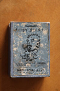 Happy Families vintage card game - individually hand-coloured cards excellent