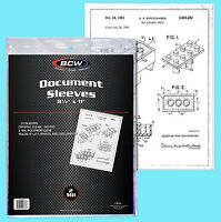 """50 BCW 8.5x11"""" SOFT SLEEVES 2 MIL Photo Clear Poly 8-1/2x11 Print Document Pagei"""