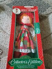 Vtg Holly Hobbie Holiday Scented 1988 Zayre Collectors Edition Doll W/ornament