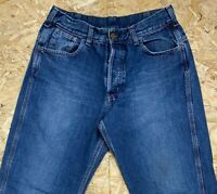 Vintage CARHARTT Men's Blue Staff Pants 31W 34L 31/34 Blue Denim