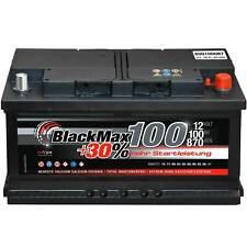 Autobatterie 12V 100Ah 870A/EN BlackMax ersetzt 75 77 80 83 85 88 90 92 95 105Ah
