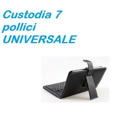 "CUSTODIA CON TASTIERA USB UNIVERSALE TABLET 7"" POLLICI SAMSUNG TAB ASUS MEDIACOM"